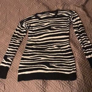Pea in a Pod zebra print sweater